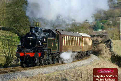 Keighley & Worth Valley Railway - Four Course Meal and Day Travel for two - Save 52%
