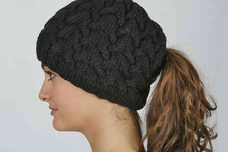 Dante Distribution - Ponytail Beanie Hat in Choice of Style and Colour - Save 68%