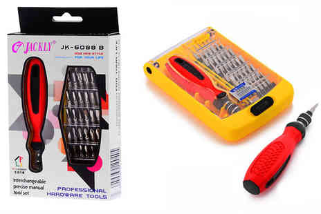 Pearl and Hall Direct - Multi functioning, compact 37 Piece Ratcheting Screwdriver Set - Save 50%