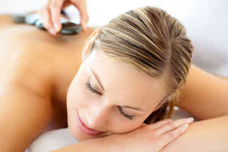 Hunni Hair and Beauty Spa - Hour Long Hot Stone Massage and Crystal Clear Facial - Save 58%