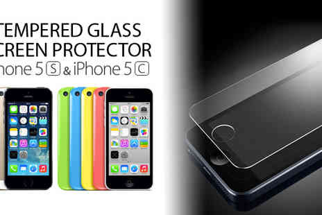 RedHotDealz - Tempered Glass Screen Protector for iPhone 5/ 5c & 5s - Save 75%