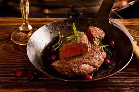56 North - Sirloin steak meal for two  - Save 52%