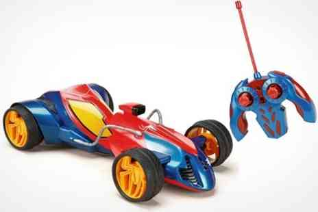 Net Price Direct - Remote Controlled Spider Man Web Twister Model Stunt Car - Save 50%