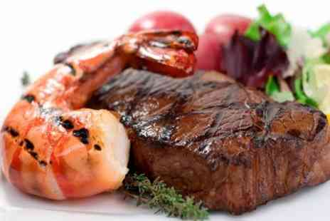 Larkfield Priory - Surf and Turf Meal For Two - Save 48%