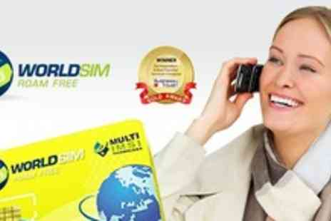 World SIM - Reduce huge roaming charges with a Worldwide Sim card - Save 65%