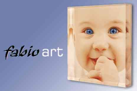Fabio Art - Print Your Own Image on 8�x6� 3D Acrylic Block for £19 - Save 60%