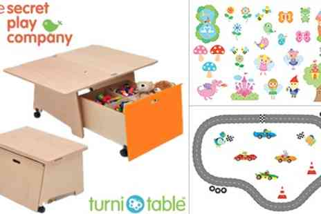 The Secret Play Company - Award Winning Multi Use TurniTable & Space Saver Toy Box - Save 63%