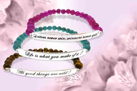 Whats About Town - Kissika sterling silver quote bracelet - Save 74%