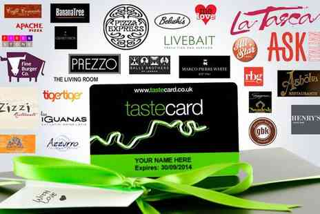 Taste Marketing - 12 Month membership to tastecard at over 7000 participating restaurants - Save 56%