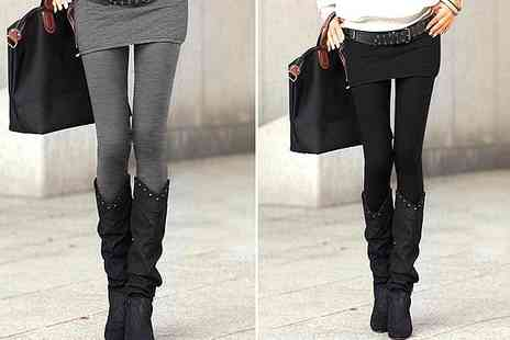 Hibillion - One pair of grey and one pair of black skirt leggings - Save 50%