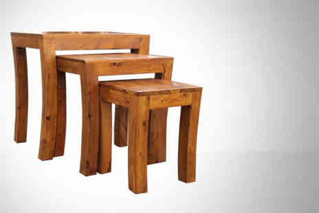 Furniture Deals - Tuscany nest of three tables - Save 60%