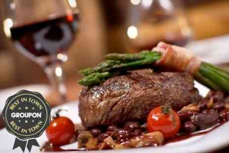 New York Cut Steakhouse - Two Course Steak Meal With Wine - Save 59%