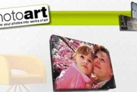 Photoart Warehouse - 30�x20� (£20) Photo Canvas or PVC Print - Save 76%