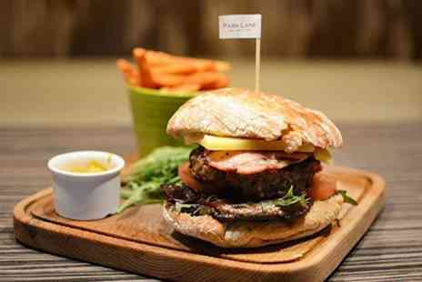 Park Lane - Gourmet Burger and Fries With Beer for Two - Save 52%