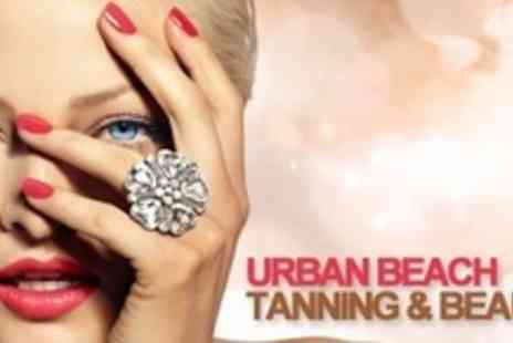 Urban Beach Tanning - Shellac or Acrylic Nails With Mini Manicure and Hand Massage - Save 70%
