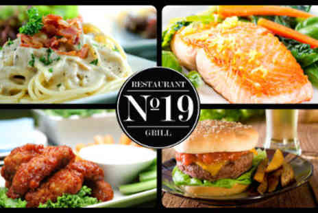 No. 19 Restaurant and Grill - Starter and Main Course - Save 50%