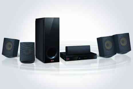 kgbdeals tech - LG home cinema including a 3D Blu ray player sub woofer and four satellite speakers - Save 50%