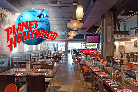 Planet Hollywood - Two course meal for two - Save 49%