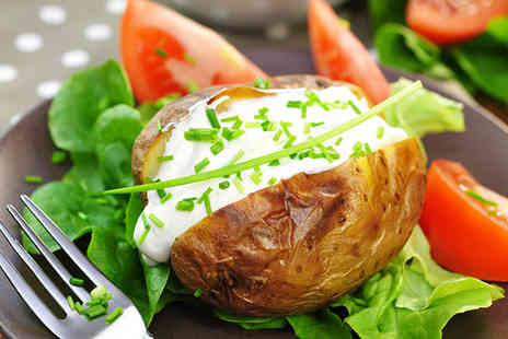 Oi Potato - Two course hot meal for 2 including jacket potato drink & dessert  - Save 51%