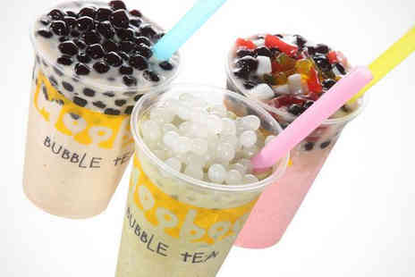 Mooboo - Four Large Bubble Teas with One Topping - Save 54%