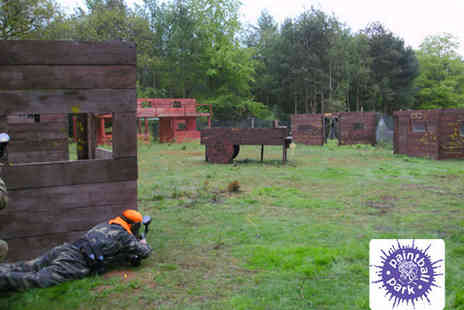 Paintball Park - All Day Paintball Experience with 200 Paintballs Light Lunch and Equipment Hire - Save 56%