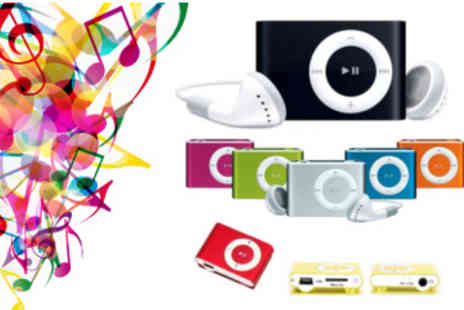 Gal Cochrane - Mini Clip MP3 Player in a Choice of Bright Colours - Save 75%