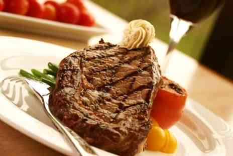 Wine & Sausage - Two Course Steak Meal With Wine For Two - Save 62%