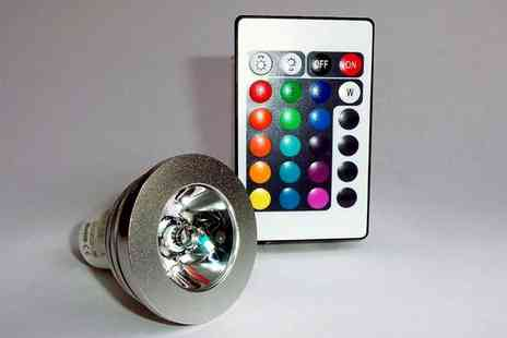 Olpro - Colour Changing LED Bulb with Remote - Save 25%