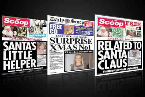 Scooped - Christmas with a spoof newspaper print - Save 50%