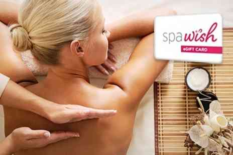 SpaWish - Gift Card Towards Treatments - Save 30%