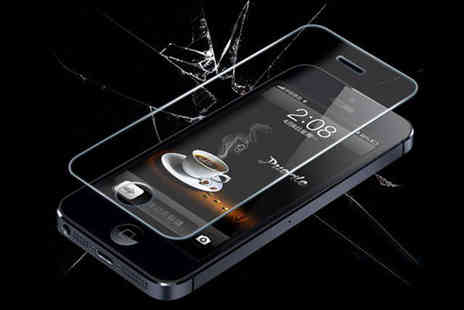 Discount kg - Premium Tempered Glass Cover for iPhone 4/5 - Save 50%