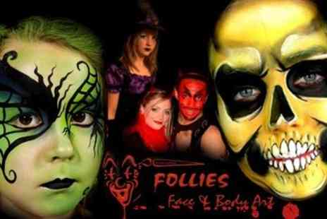 Follies Facepainting - Get Spooky skills Face painting One Day Course. Gain a new skill, hobby or business - Save 50%