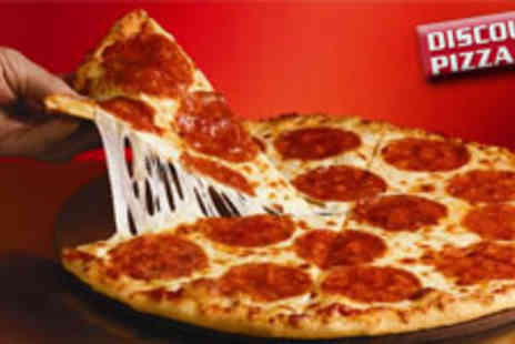 Discount Pizza Co - Two twelve inch pizzas with up to 4 toppings per pizza - Save 53%