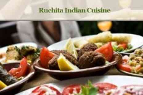 Ruchita - Two Course Indian Meal For Two With Side Dishes and Liqueur Coffee - Save 69%