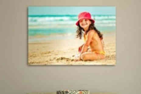 Your Image on Canvas - A4 Canvas Printed and Mounted from Your Image on Canvas - Save 96%