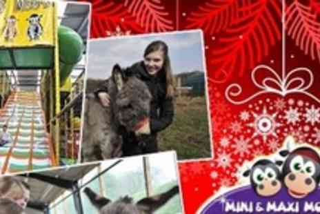 Mini Moos Farm - Entry to Christmas Spectacular With Ice Skating, Laser Tag and Hot Chocolate For Up to Four People - Save 64%