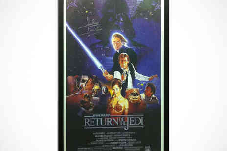 All Star Signings - Framed Star Wars Movie Poster Signed by Darth Vader Actor Dave Prowse with Choice of The Empire Strikes Back - Save 56%