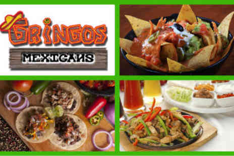 Gringos Mexicans - 2 Main Courses with Chips or Wedges - Save 55%