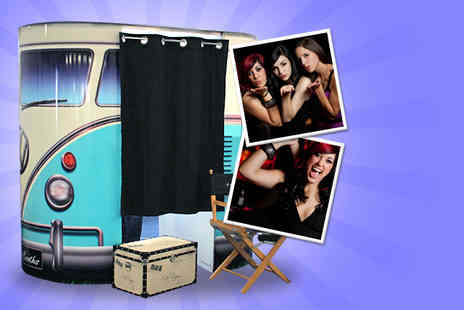 The Booth Brothers - Three hour photobooth hire including unlimited photos & an image DVD - Save 43%
