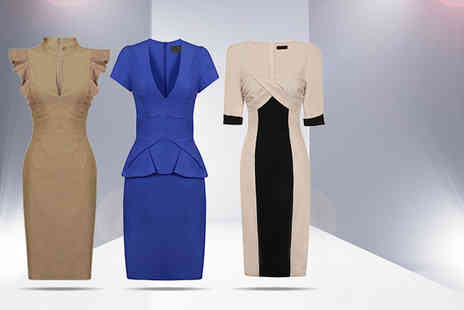 Webb Retail - Office pencil dress in a choice of designs - Save 59%