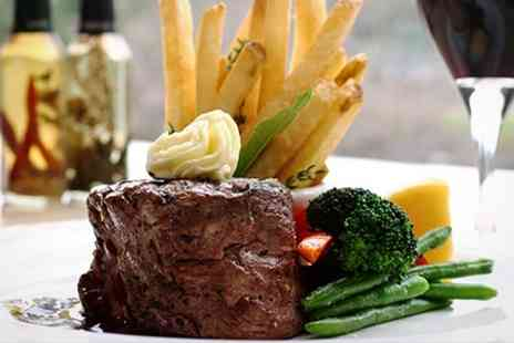 The Silverwells - Steak Meal With Wine For Two - Save 52%