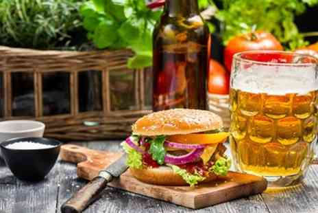 The Meeting Room Cafe - Burger and Bottle of Beer For Two - Save 50%