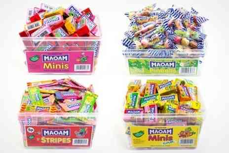Premium Brands 4 Less - MAOAM Tubs of Sours Minis  Stripes and Pinballs- Save 46%