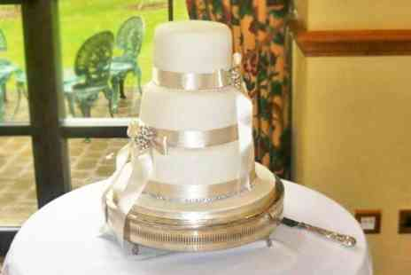 Helens Little Cake Shop - Wedding Cake Three Tier Cake or Single Cake With 70 Cupcakes - Save 49%