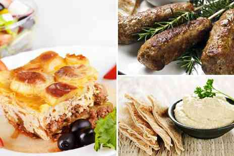 Parthenonas - Three course Greek feast for two including starters mains ice creams coffees - Save 47%