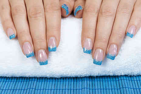 Cyan Beauty Studios - Acrylic overlays with coloured or glittered tips - Save 70%