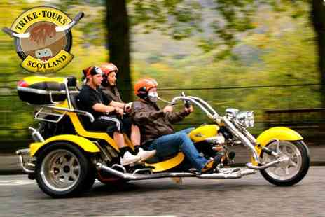 Trike Tours Scotland - A chauffeur driven Trike Tour for Two people including a professional photography shoot - Save 59%