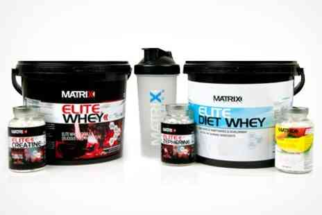 Matrix Nutrition - Matrix Elite Diet or Workout Bundles 2.25kg Whey With African Mango Tablets, Zeperhine, or Creatine - Save 61%