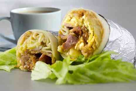 Burrito Cafe - Breakfast Burrito and Coffee For One Two or Four People - Save 25%