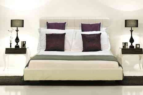 GRS Global - Venus White Faux Leather Bed - Save 80%